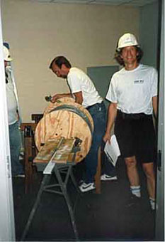 Jim Duncan at KOHL Radio, Fremont, CA - 1995 new studio constuction project