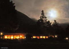 Full moon over Esalen dining commons
